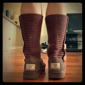 UGG Sweater Knit Boots in Brown